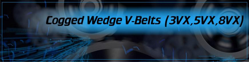 Cogged Wedge V-Belts (3VX, 5VX, 8VX)