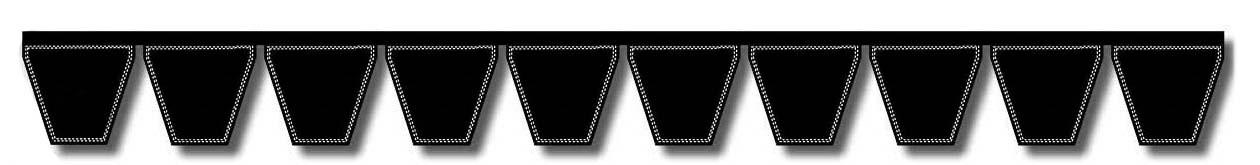 4 Band D/&D PowerDrive 4//3V630 Banded V Belt Rubber