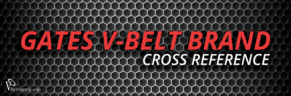 Gates V Belt Cross Reference Gates Belt Conversion Charts